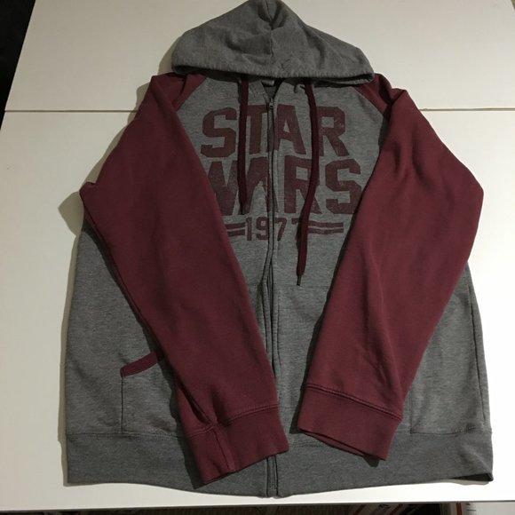 Star Wars Mens 2XL Sweatshirt Hoodie Zip Up 1977